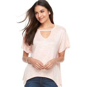 Juicy Couture Pink Pull-over Shark Bite Top NWT